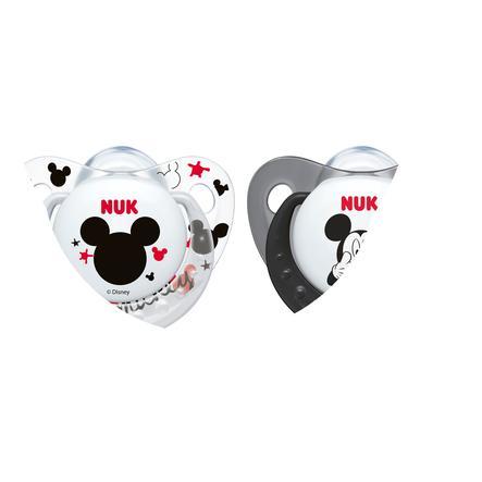 NUK fopspeen Trendline Mickey silicone Gr. 1 grijs/wit