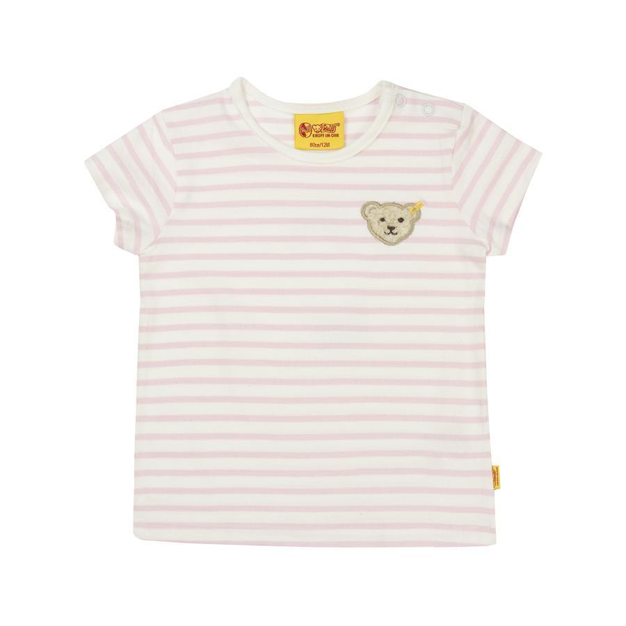 Steiff Girl s T-Shirt strepen nauwelijks roze