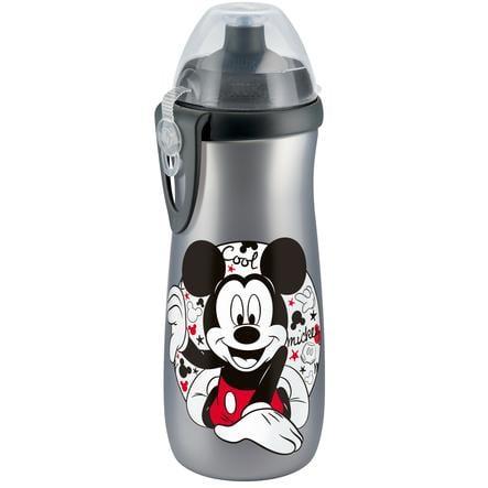 NUK Sports Cup 450ml, Disney Mickey stříbrný, s Push-Pull- pítkem ze silikonu