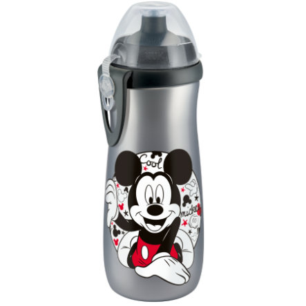 NUK Sports Cup 450ml met clip, Disney Mickey zilver