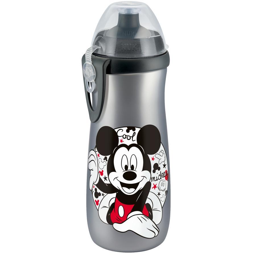 NUK Borraccia Sports Cup 450ml con Clip Disney Mickey, beccuccio in silicone