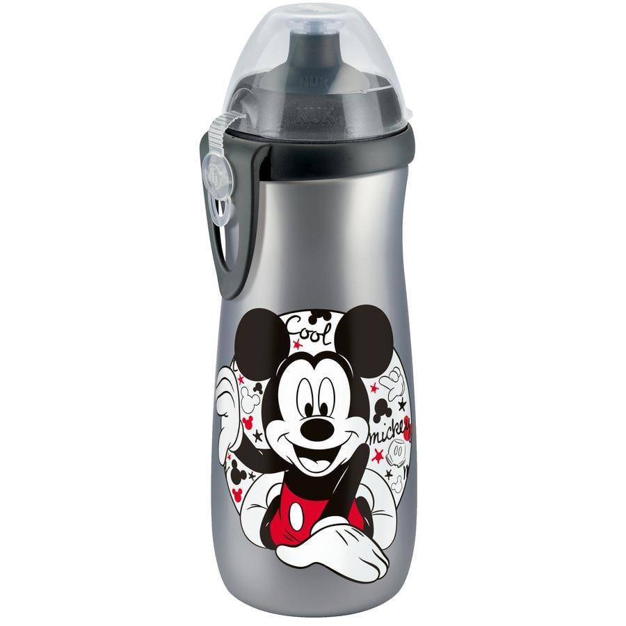 NUK Sports Cup 450 ml mit Clip Disney Mickey silber mit Push-Pull-Tülle Silikon