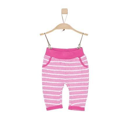 s. Oliver tyttöjen Sweat Pants vaaleanpunaiset raidat