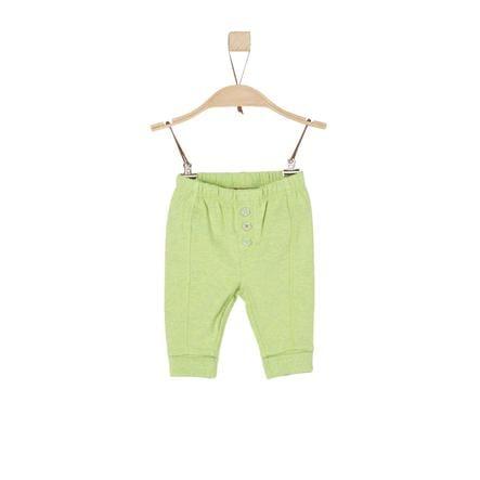 s.Oliver Boys Pantalón de chándal verde claro mélange