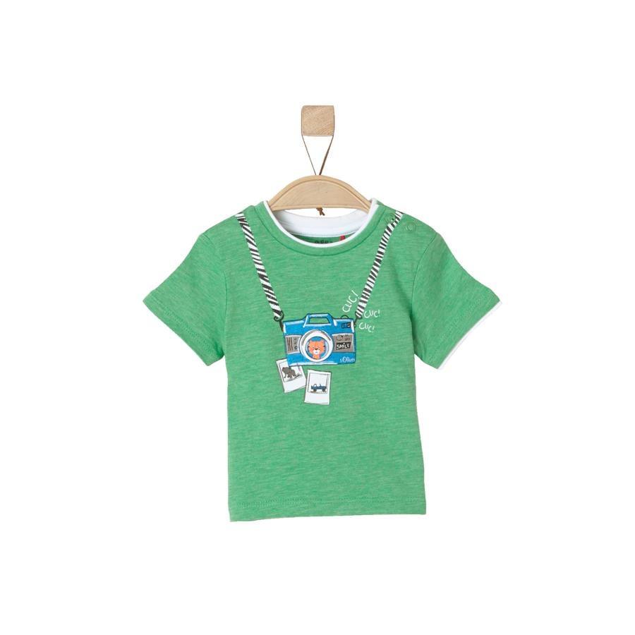 s.Oliver Boys T-Shirt verde melange