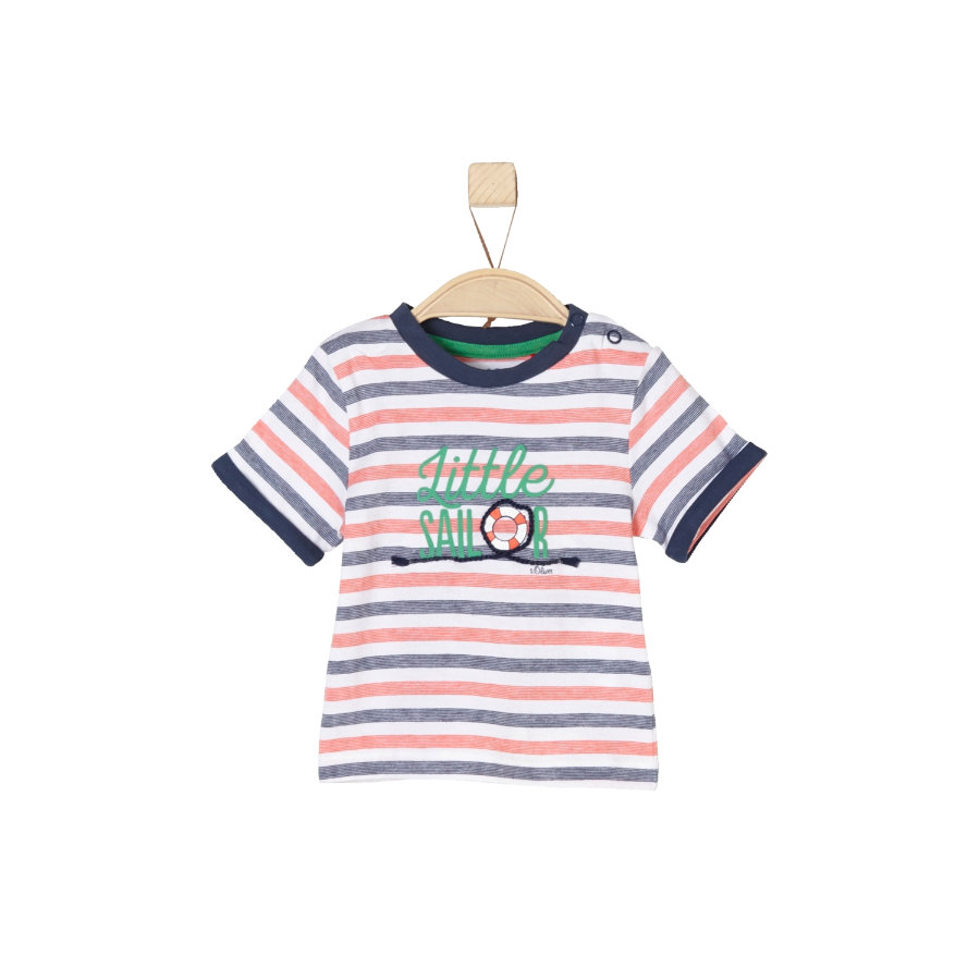 s.Oliver Boys T-Shirt white stripes