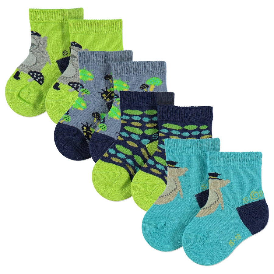 S.OlLIVER Baby Fashion Socken 4er-Pack lime