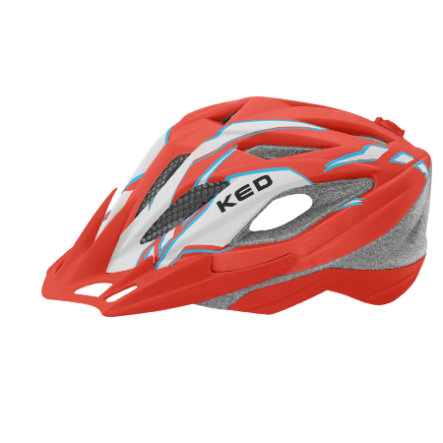 KED Kinder Fahrradhelm Street Junior Pro Red Pearl Matt Gr. M 53-58 cm