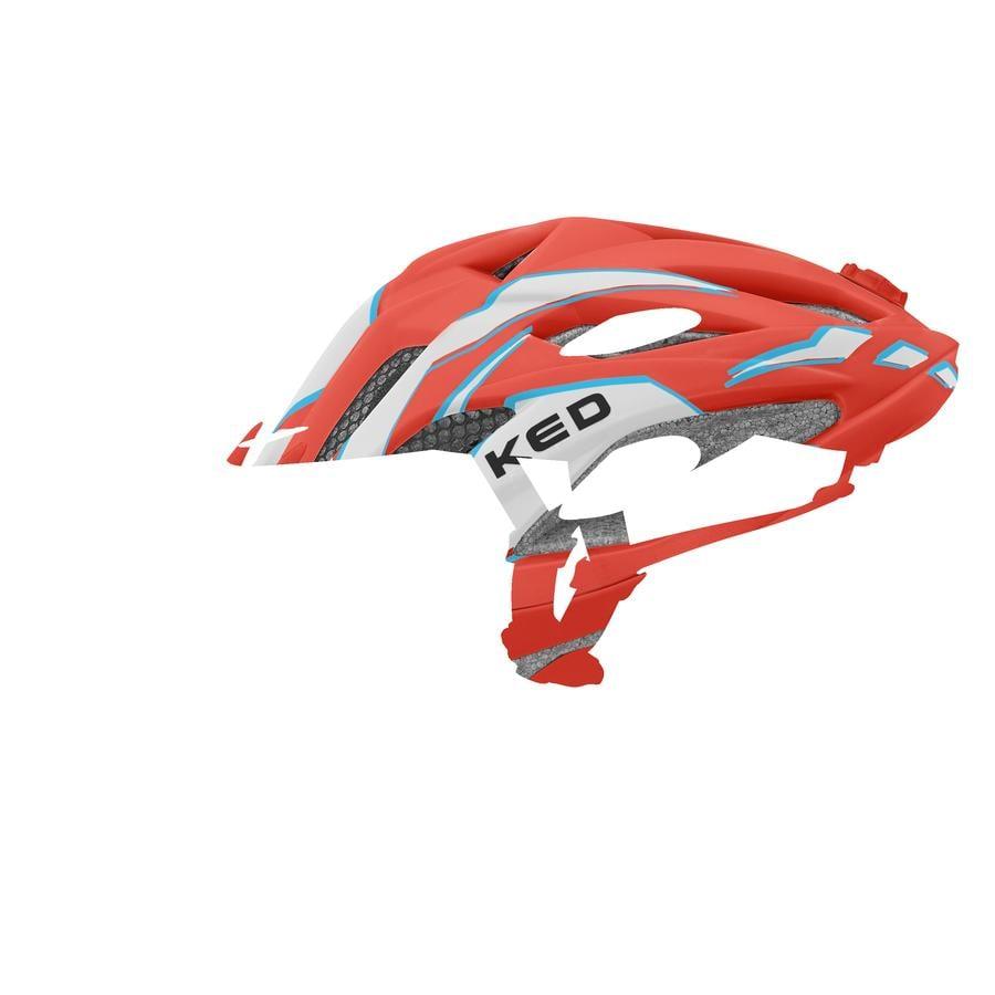 KED Kinder Fahrradhelm Street Junior Pro Red Pearl matt Größe S 49-55 cm