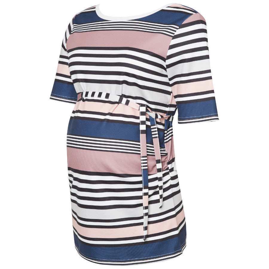 mama licious Umstandsshirt MLDIZZY Old Rose Stripes