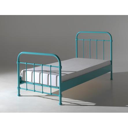 VIPACK kovová postel New York tyrkysová