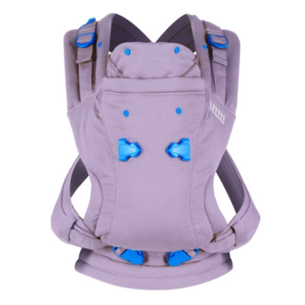 we made me Babytrage Pao Papoose Classic lavendel/blau