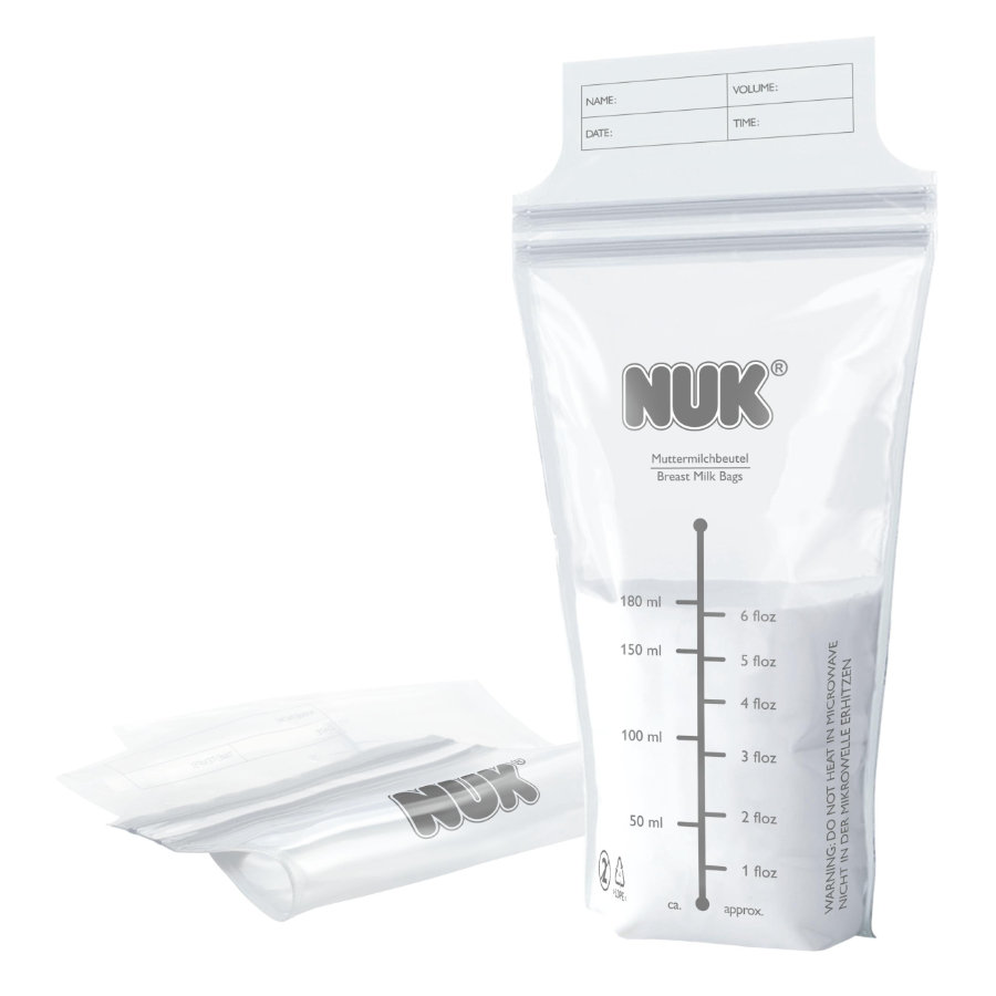 NUK Sacchi conserva latte materno 25 pezzi ciascuno da 180ml