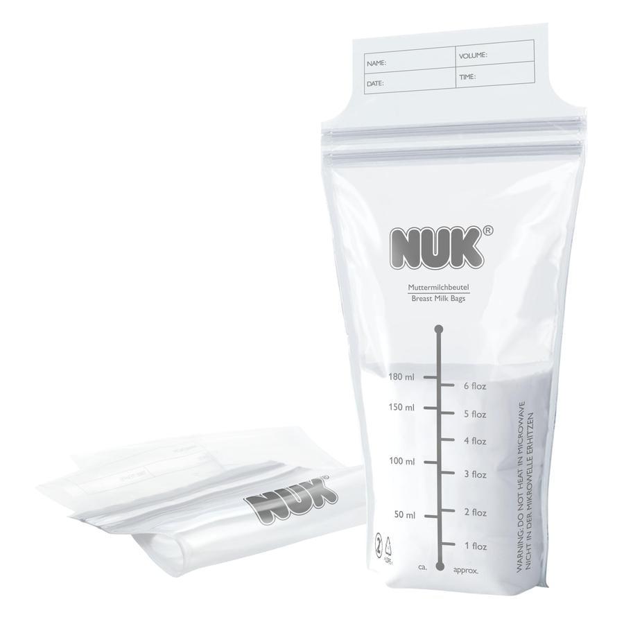 NUK Sachets de conservation pour lait maternel 25 pièces à 180ml