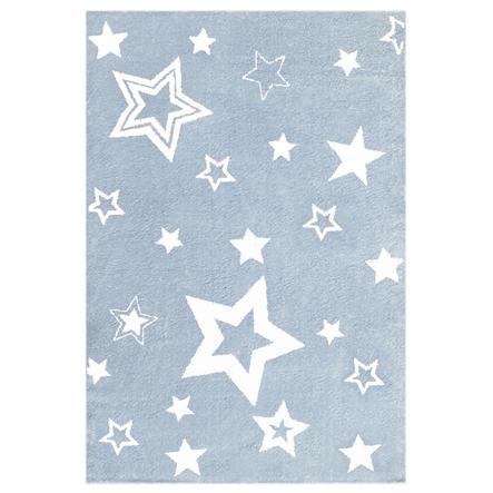 LIVONE Tæppe Love Rugs Starlight blå/hvid 100 x 160 cm