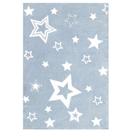 LIVONE tappeto gioco e per bambini Tappeti Love Rugs Star light blu/bianco 100 x 160 cm
