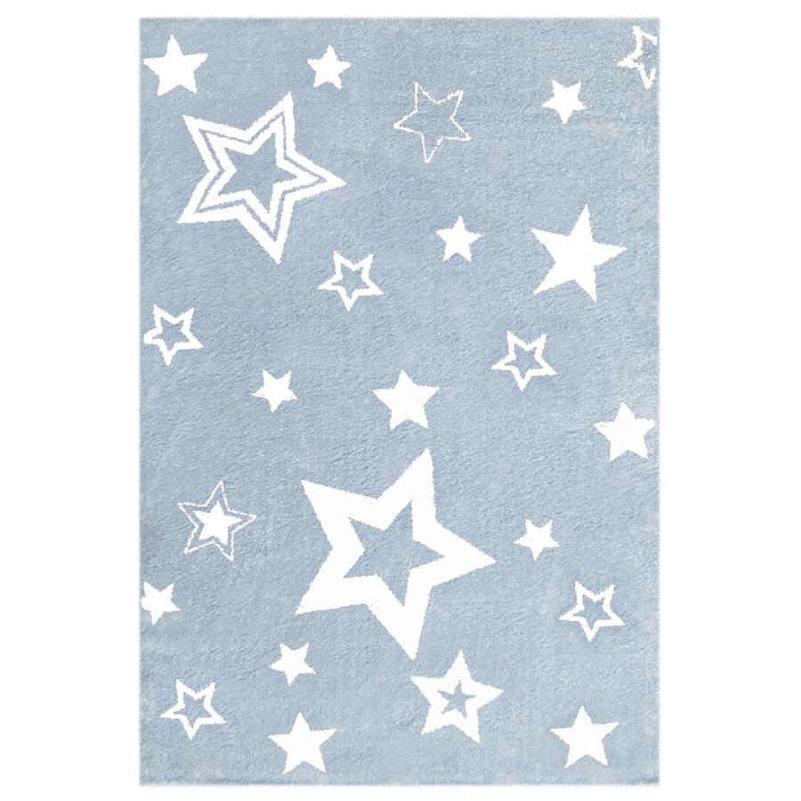 LIVONE Barnmatta Love Rugs Stars blå/vit 100 x 160 cm