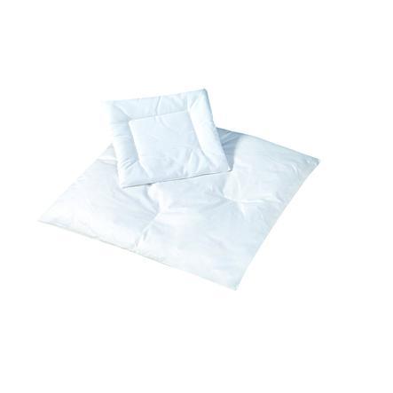 JULIUS ZÖLLNER Barnesete sengesett fjær ned 35 x 40 cm / 80 x 80 cm