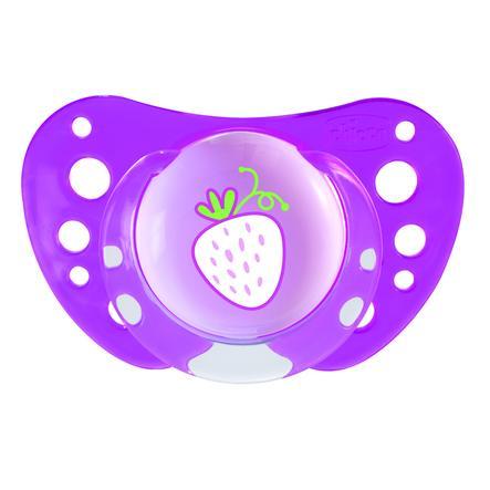 CHICCO Smoczki uspokajające silikonowe Physio Air Pink 12m+ Girl