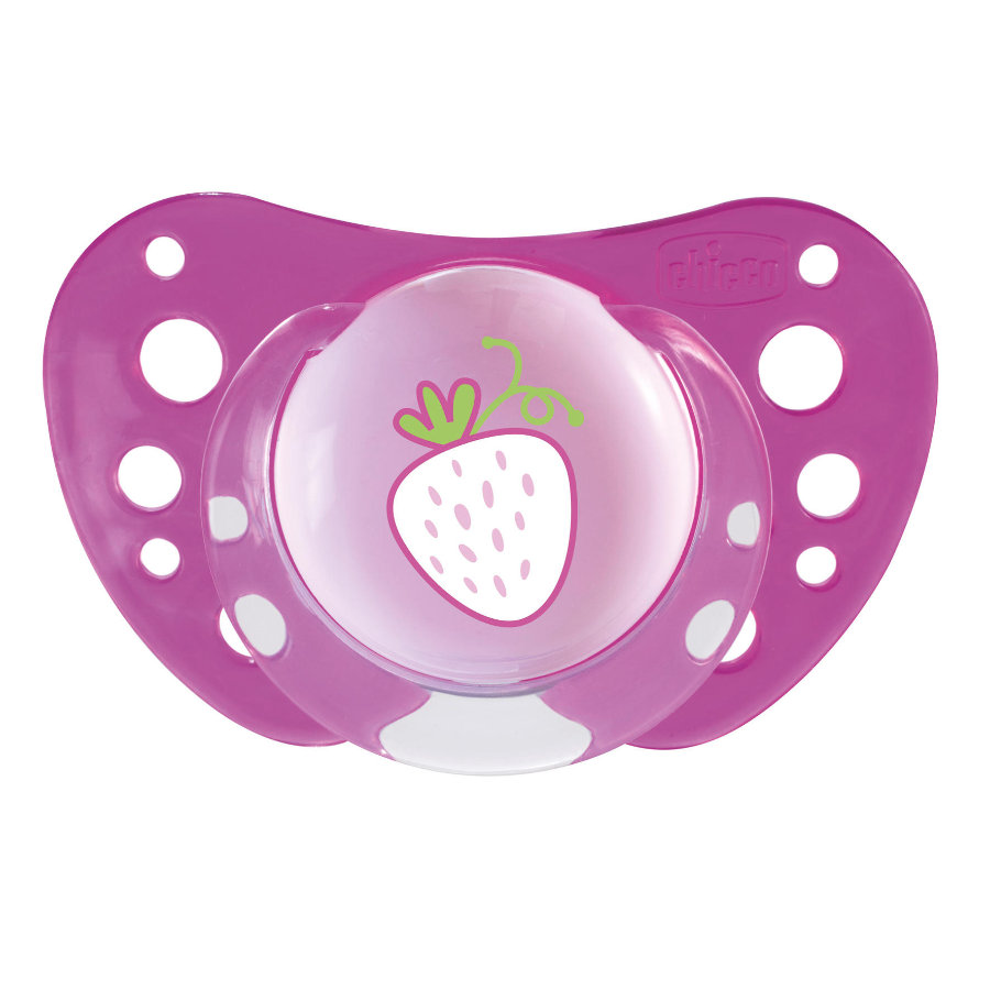 """CHICCO """"Physio Air"""" Pacifier, Pink, 12m+, Silicone, Girl"""
