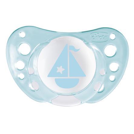 CHICCO Smoczki uspokajające silikonowe Physio Air Blue 0m+ Boy