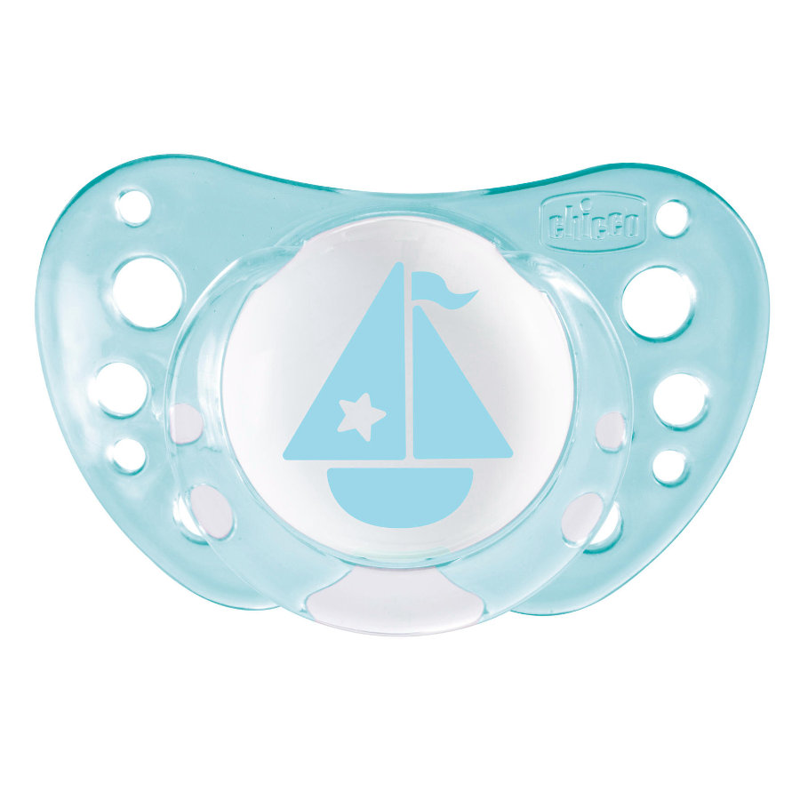 chicco Beruhigungssauger Physio Air Silikon ab dem 0. Monat Design: blau