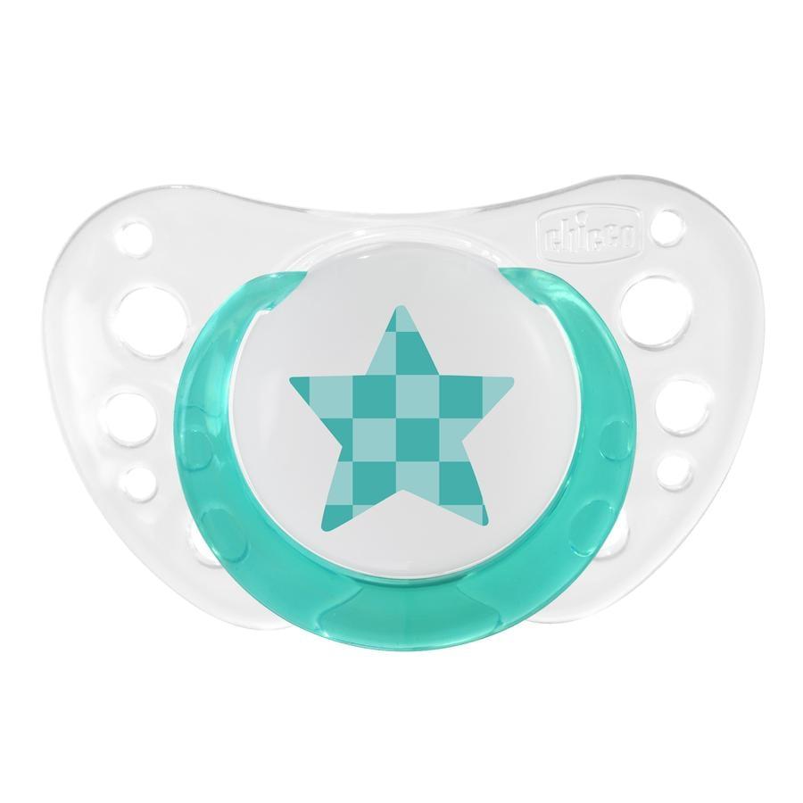 """CHICCO Dudlíky """"Physio Air"""" svítící, 4m+, silikon"""