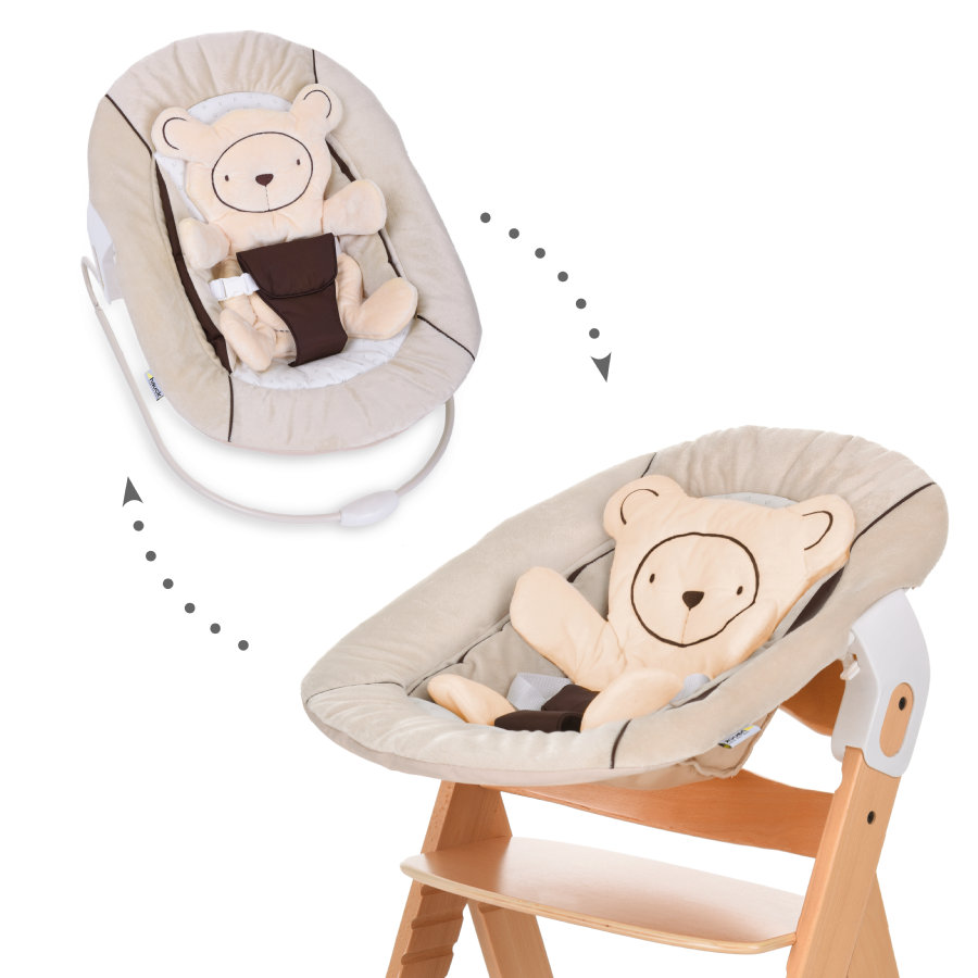hauck transat b b alpha bouncer 2 en 1 hearts beige. Black Bedroom Furniture Sets. Home Design Ideas