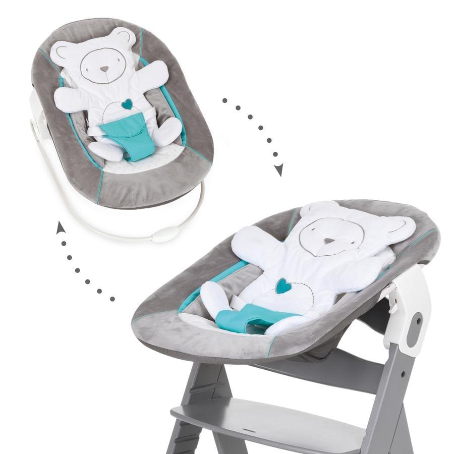 hauck Babyaufsatz Alpha Bouncer 2in1 Hearts Grey