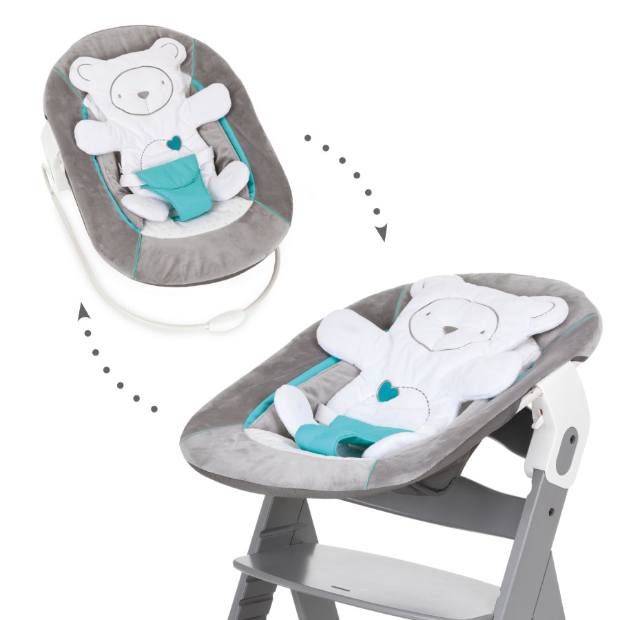 hauck Babyaufsatz Bouncer 2in1 Hearts Grey