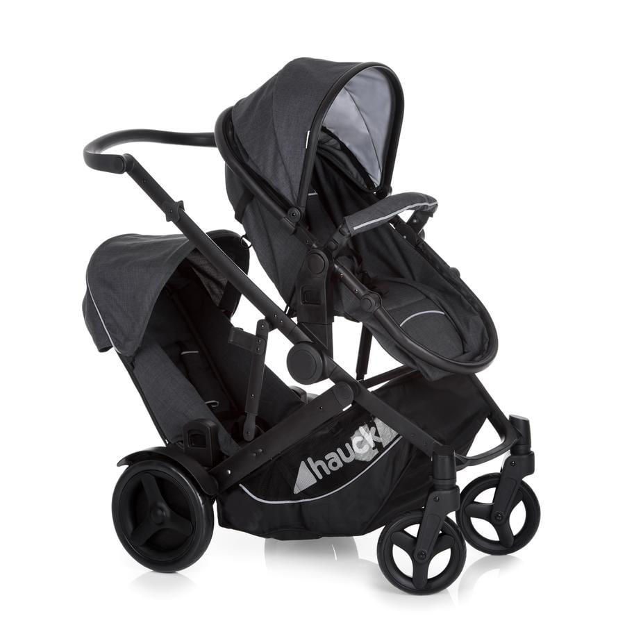 HAUCK Wózek podwójny DUETT 3 Melange charcoal
