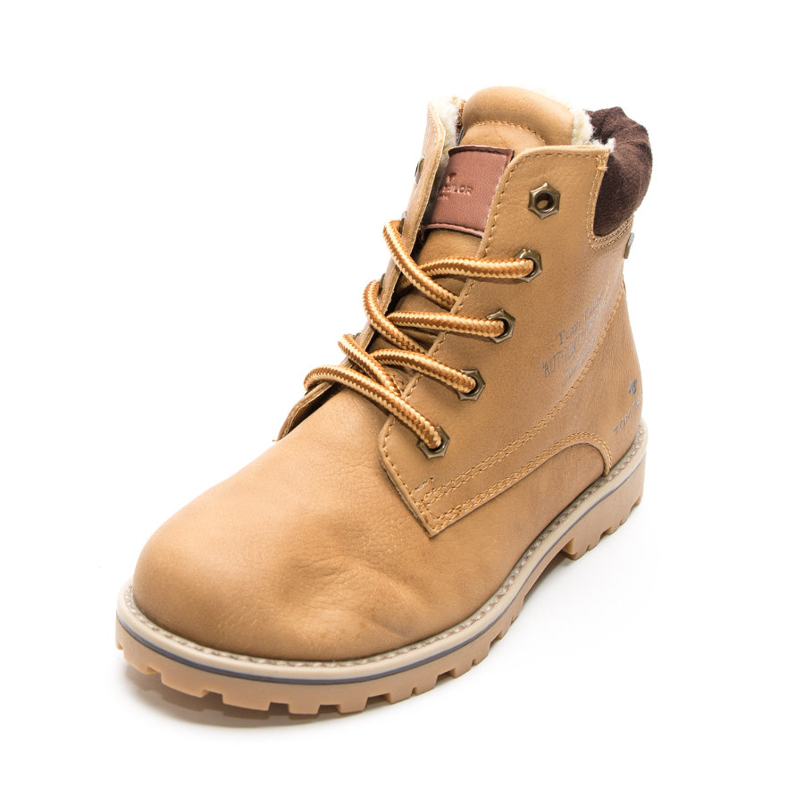 TOM TAILOR Boys Stiefel Emblem camel