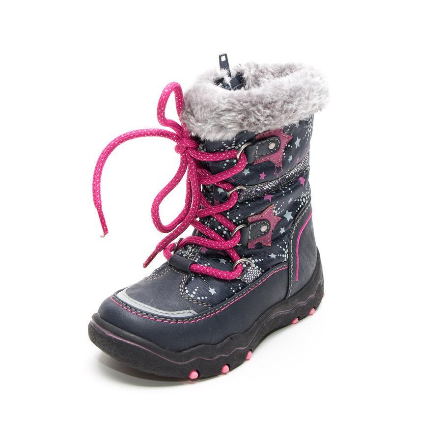 Be Mega Girl s boots stars glitter navy