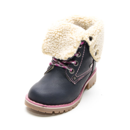 TOM TAILOR Girls Stiefel Umschlagrand navy