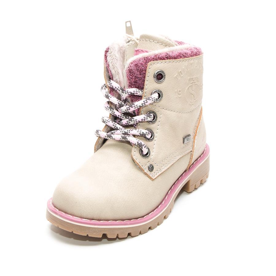 TOM TAILOR Girl s Laarzen glinsteren gebroken wit
