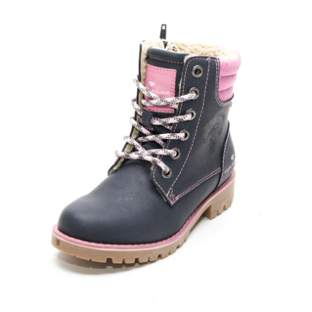 new style adfa3 04cde TOM TAILOR Girls Stiefel Emblem navy