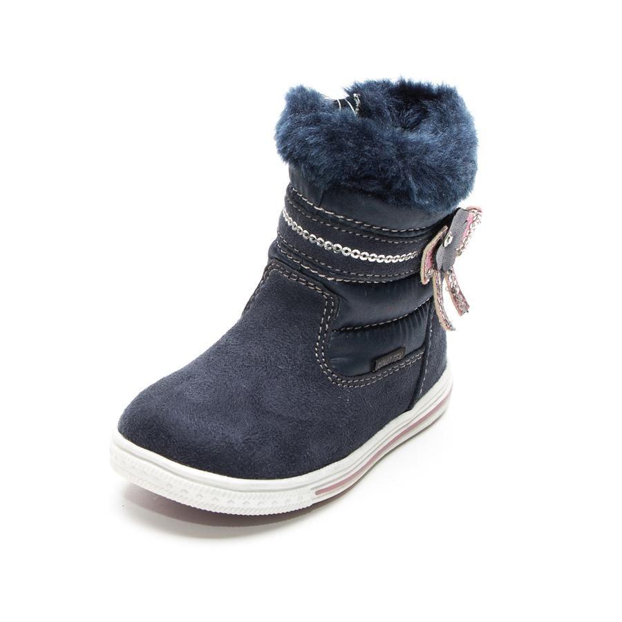 Be Mega Girl s boots bow flower navy navy