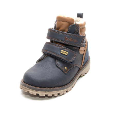 Be Mega Boys Boots Leather Leather navy-brown