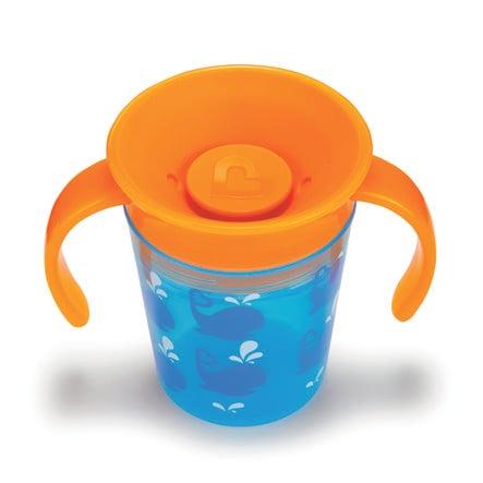 Munchkin Miracle® 360° Kubek Niekapek 177 ml Boy kolor niebieski/kolor pomarańczowy