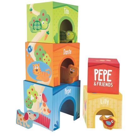Hape Pepe & Friends Torre da impilare E0451