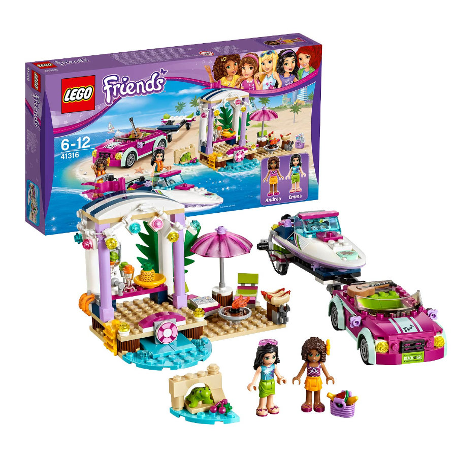 LEGO® Friends - Andreas Rennboot-Transporter 41316