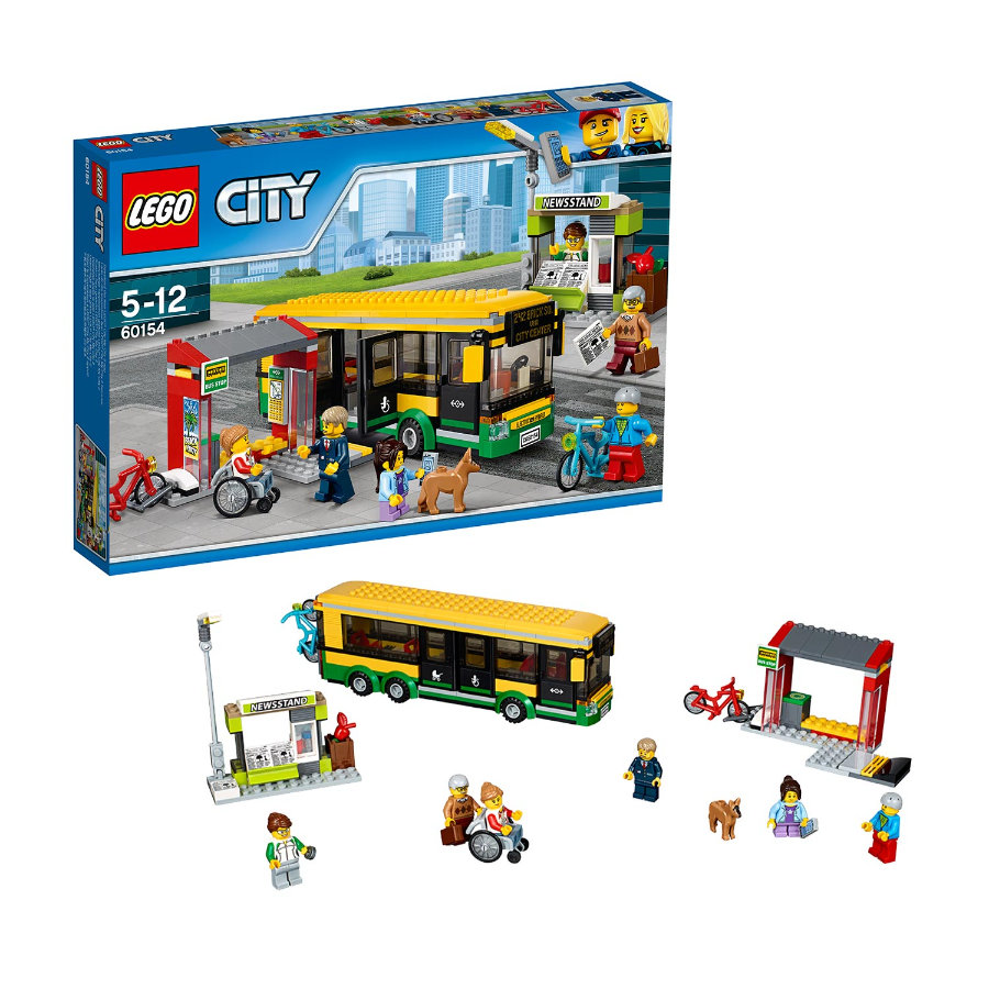 lego city la gare routi re 60154. Black Bedroom Furniture Sets. Home Design Ideas