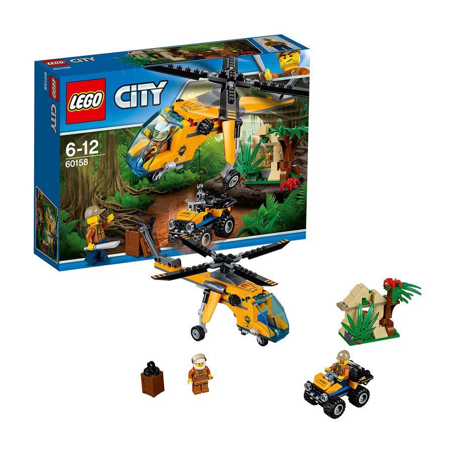 LEGO® City L'hélicoptère cargo de la jungle 60158