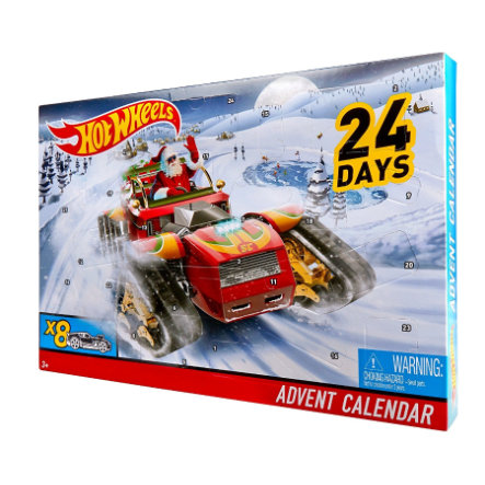 MATTEL Hot Wheels Calendario dell'avvento 2017