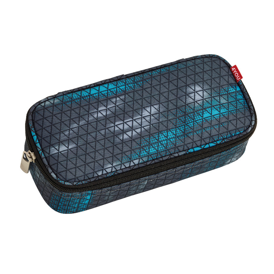 4YOU Jump Pencil Case + Geodreieck 889-00 Tricodes