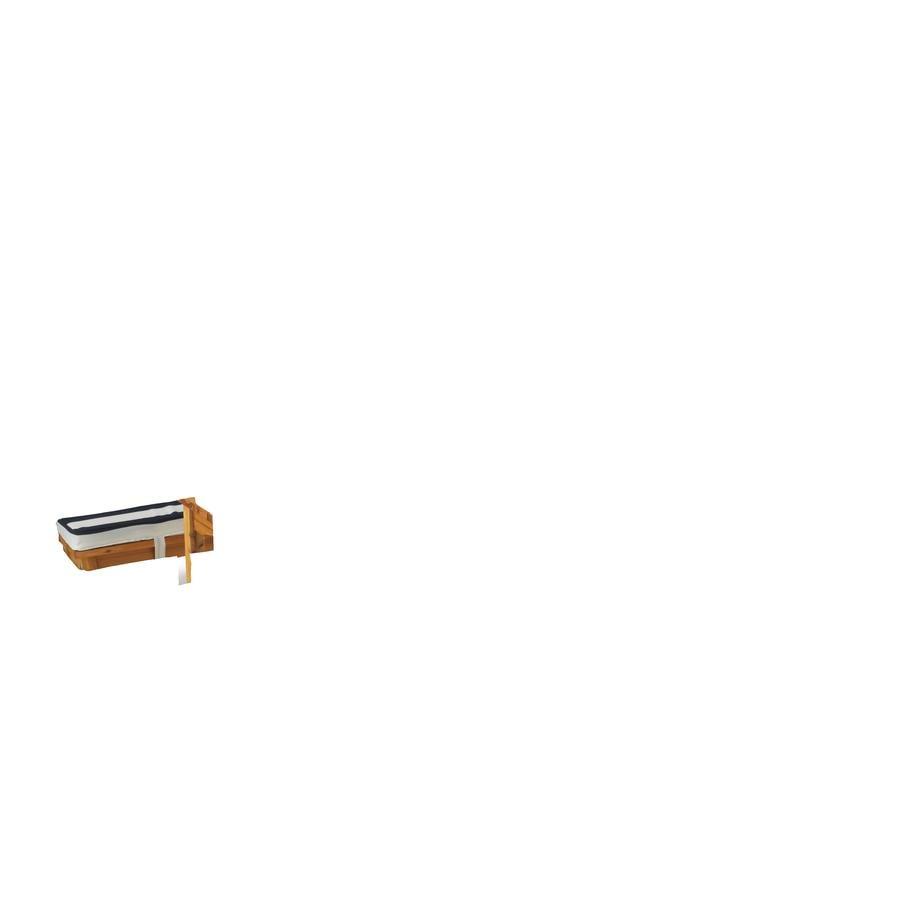 Kidkraft® Gartentischset mit Bänken, Kissen und Sonnenschirm, marineblau