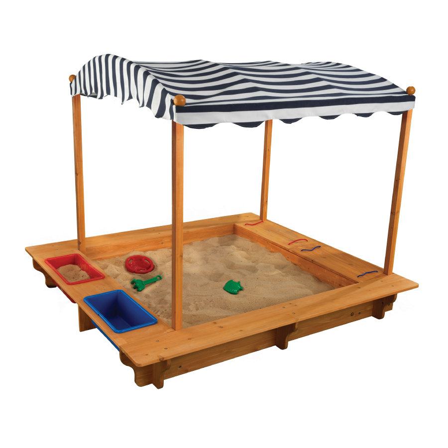 Kidkraft® Bac à sable d'extérieur à auvent, bois 00165