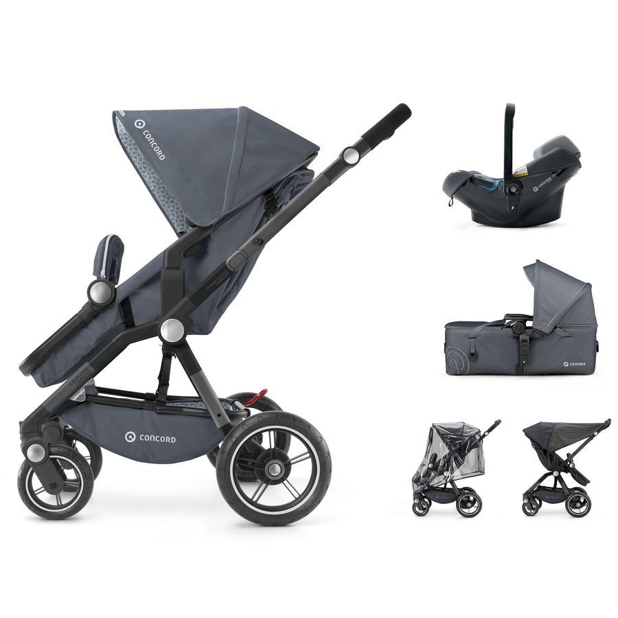 CONCORD Kinderwagen Camino Mobility-Set Steel Grey