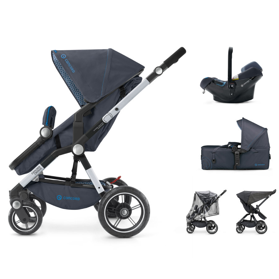 CONCORD Kinderwagen Camino Mobility-Set Deep Water Blue