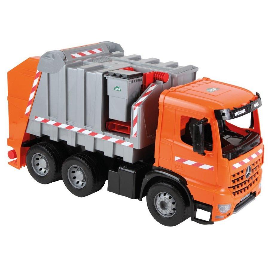LENA Starke Riesen Müllwagen Modell Actros mit Aufklebern, 74 cm